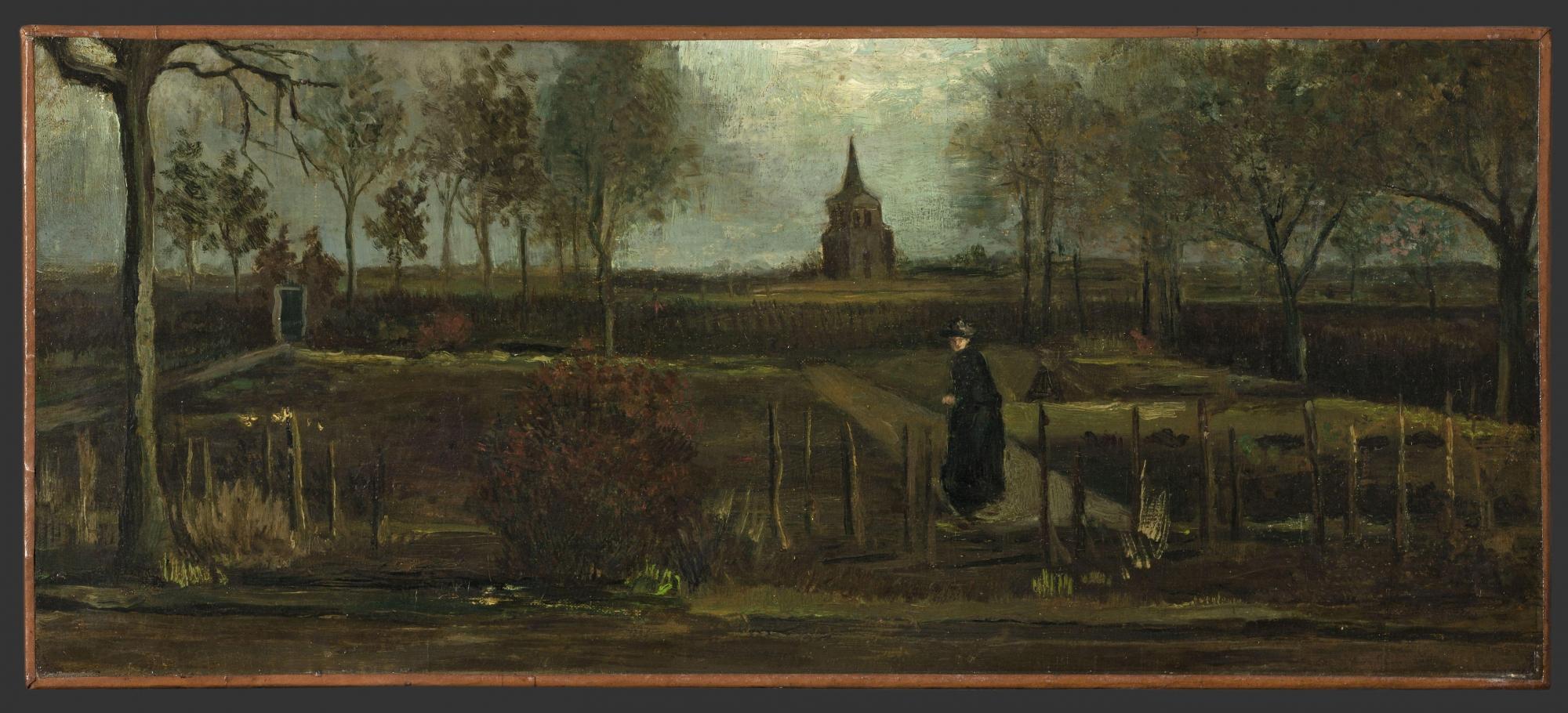 Vincent van Gogh, The Parsonage Garden at Nuenen, 1884, Singer Laren Museum, Laren, The Nederlands, Stolen in 2020
